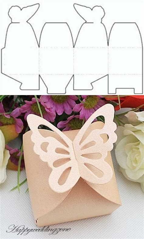 Howcrafts Free Printable Gift Box Template Howcrafts Butterfly Box Template