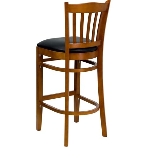 restaurant quality bar stools wood vertical slat barstool