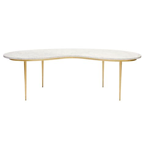 regency gold white marble coffee table