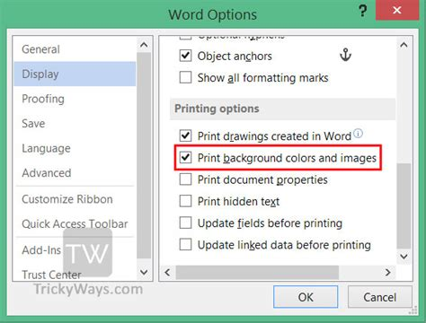 word background color how to print background color and images in word office