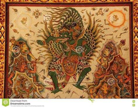 Garuda Painting garuda hindu painting stock photo image 80187979