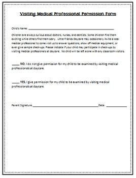 Parent Consent Letter For Outing Daycare Names Home Childcare And Childcare On