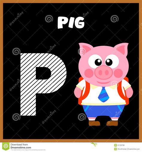 imagenes en ingles con la letra p la letra p de alfabeto ingl 233 s ilustraci 243 n del vector