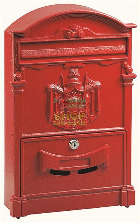 cassette delle poste cassetta della posta in alluminio mod regia colore rossa