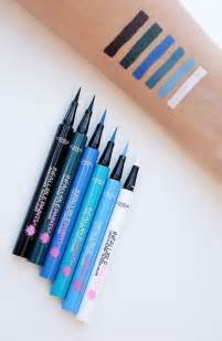 colored liquid eyeliner swatches of the new infallible paints colored liquid