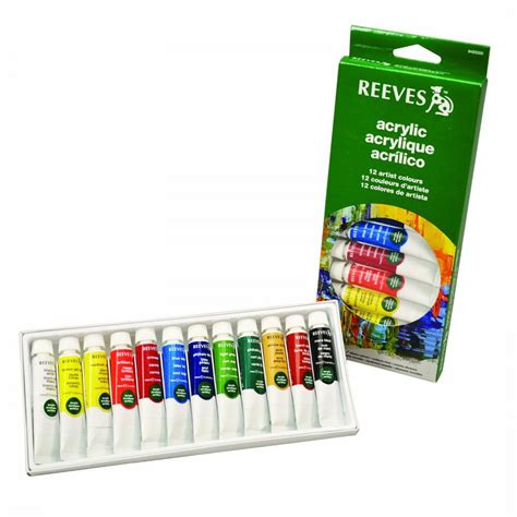 acrylic paint set acrylic paint set of 12 reeves from craftyarts co