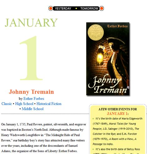 Johnny Tremain Essay by Johnny Tremain Essay