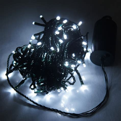 blue warm white multicolor   led battery lights string fairy outdoor garden waterproof