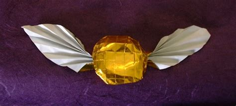Origami Snitch - golden snitch from harry potter farina gilad s