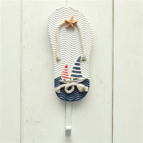 wooden chic nautical decorative hook coat hat clothes