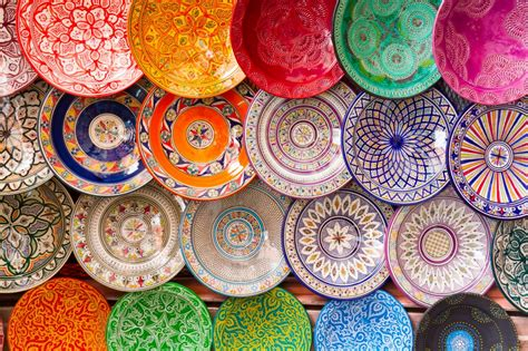 Handcrafted Plates - traditional handcrafted plates morocco jigsaw puzzle in