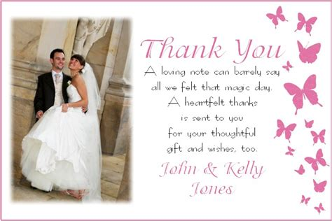 thank you card for wedding wedding thank you card thank you cards memory moments