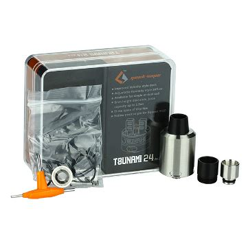 Built X Black Market La 24 Rda Atomizer Silver Best Clone atomizzatore vape tsunami 24mm rda stainless