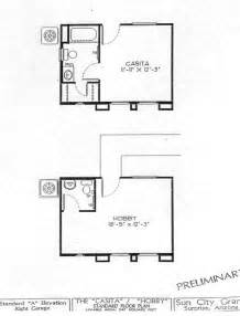 Casita Floor Plans Az by Del Webb Sun City Grand Casita Guest House Floor Plan