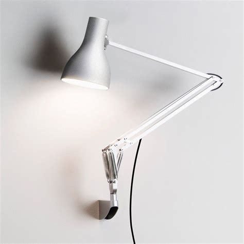 swing arm wall l contemporary wall light aluminum swing arm type 75 by