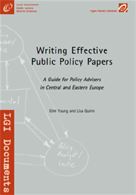 writing effective policy papers and quinn s writing checklist for problem definition