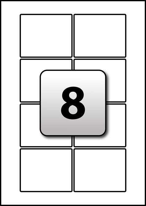Address Labels Flexi Labels Q Connect Labels 8 Per Sheet Template