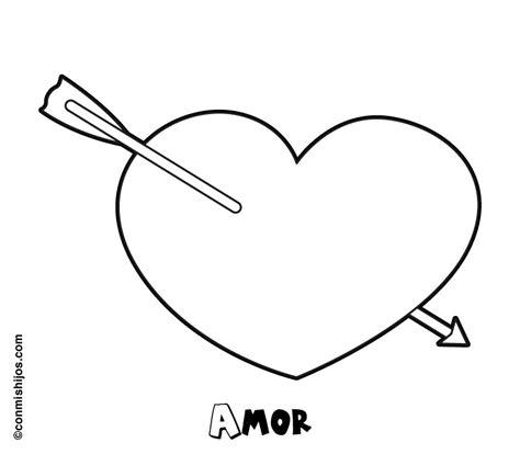 imagenes de corazones sencillos dibujo de coraz 243 n para imprimir y colorear para los ni 241 os