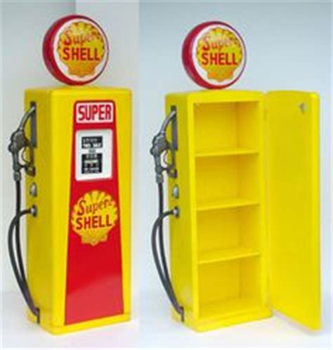 Gasoline Shelf by Shell Collectables On Gas Pumps Gas