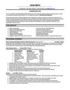 realtor resume sle experience resumes resume richard jennings