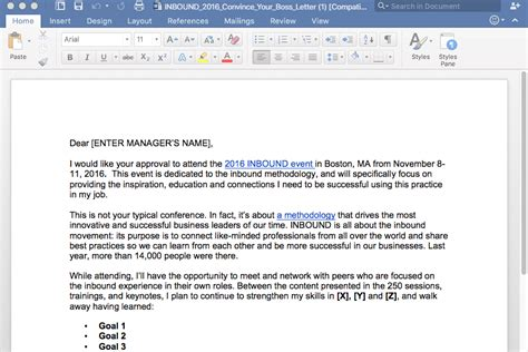 email format to your boss 5 exles of winning quot convince your boss quot event templates