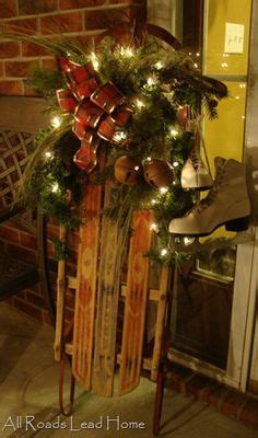 images  antique sled decorating  pinterest sled antiques  antique trunks