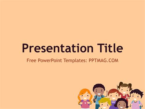 powerpoint template children free children powerpoint template pptmag