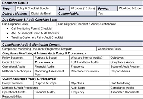 Audpol Know Your Compliance Compliance Program Template