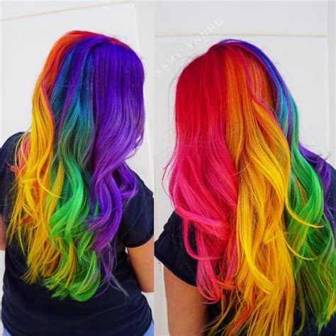 rainbow color hair ideas rainbow hair color ideas latest color trends in 2017