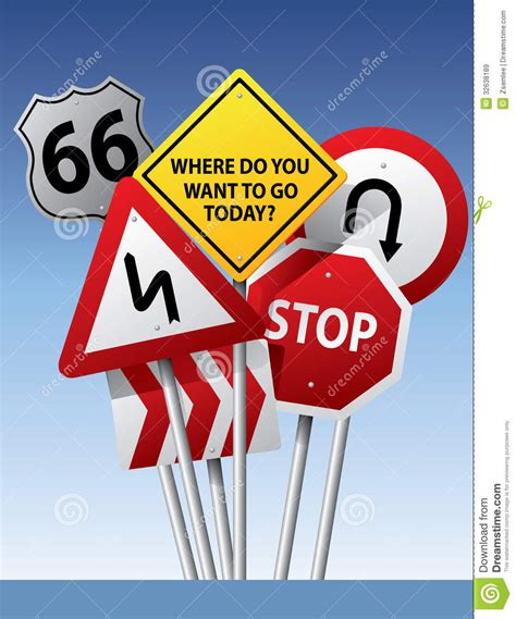 6 Signs You Need To Go On A Vacation by Vector Road Signs Stock Vector Image Of Outdoor Stop