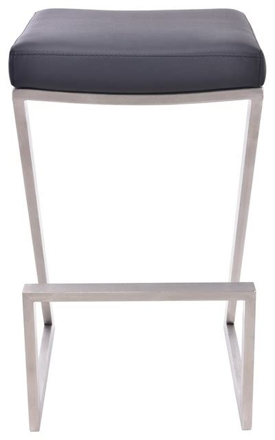 Brushed Stainless Steel Counter Stools by Atlantis Backless Counter Stool Brushed Stainless Steel