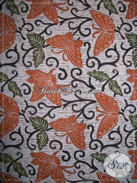 P Warna Motif motif batik kupu warna orange bahan berkwalitas dan nyaman