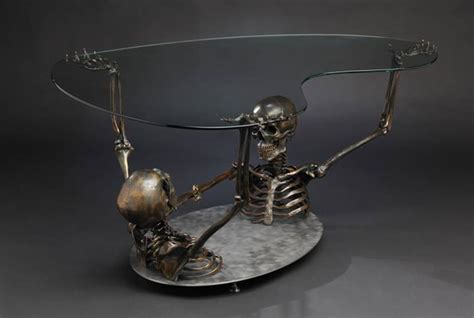 skull coffee table skeleton coffee table