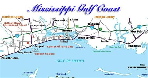map of gulf coast map of mississippi gulf coast my
