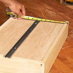 how to install bottom mount drawer slides attach to the