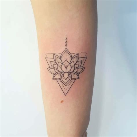 geometric triangle tattoo triangle lotus inkspiration lotus