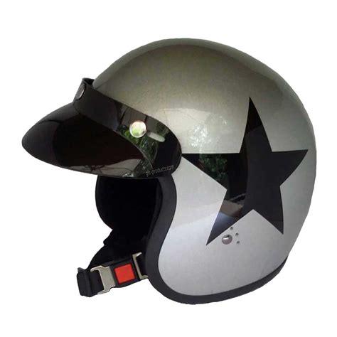 Motorradhelm Bandit by Bandit Motorradhelm Silver Jethelm