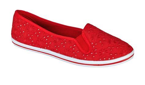 slip on canvas shoes womens plimsoles lace pumps plimsolls shoes slip on canvas