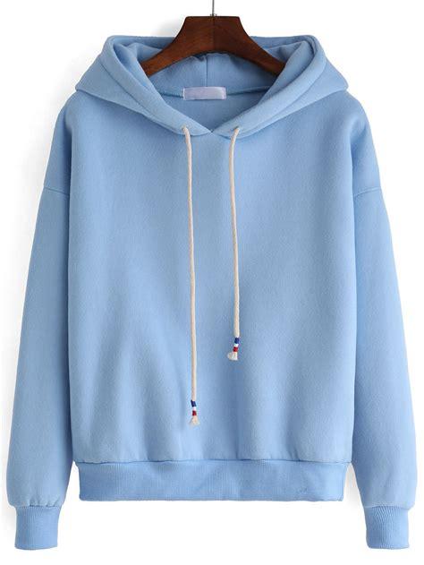 Hooded Drawstring Pullover hooded drawstring blue sweatshirt 2 canvas