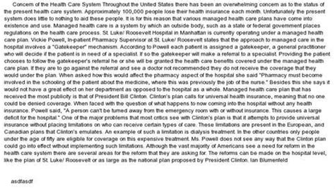 Health Care Essays by Free Health Care System Essays And Papers 123helpme