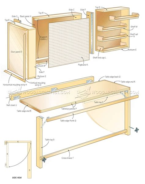 diy fold table plans fold worktable plans woodarchivist