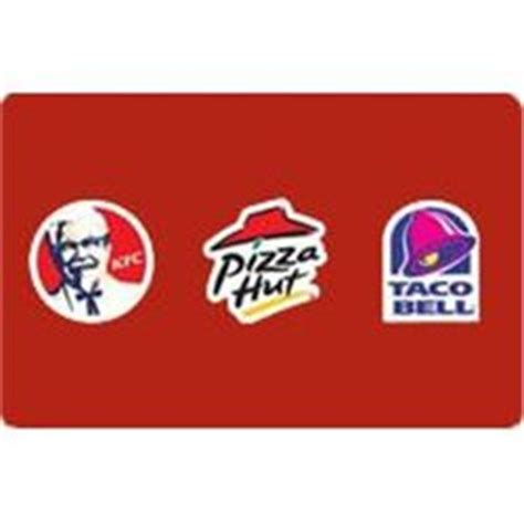 Kentucky Fried Chicken Gift Cards - a 50 gift card for use at pizza hut taco bell or kentucky fried chicken