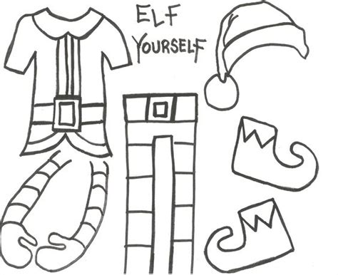 elf yourself template printable fun crafts girls and sons on pinterest
