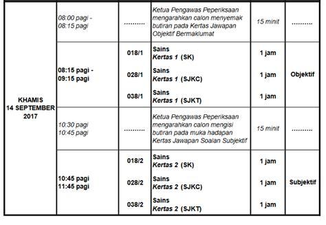 ujian upsr 2017 jadual peperiksaan upsr 2018 tahun 6 permohonan my