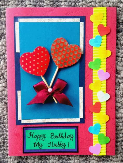 How To Make Easy Handmade Cards - how to make a simple handmade birthday card 15 steps
