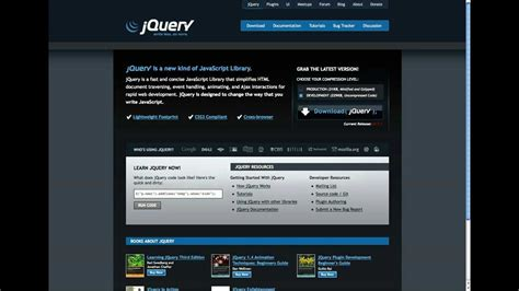 download jquery layout latest js downloading and installing jquery youtube