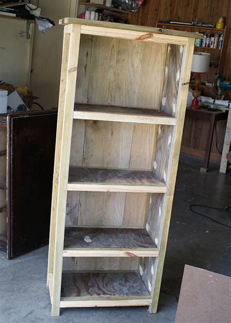 how to paint a wood bookshelf the best shelf design