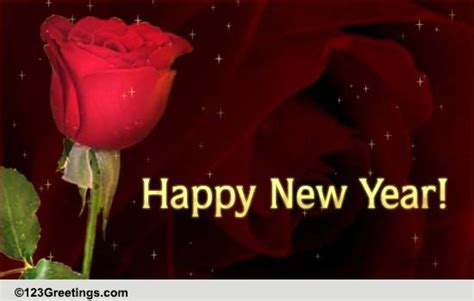 new year wishes with rose flowers new year like a free flowers ecards greeting cards 123 greetings