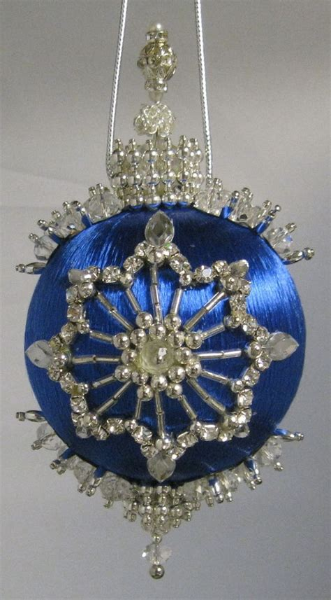 beaded satin christmas ornament kit glass menagerie ebay