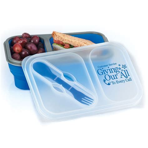 sectional lunch containers collapsible two section lunch container positive promotions